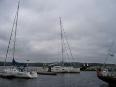 Docked at Shelburne Harbor