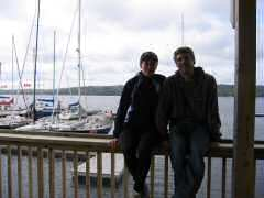 Heather and Rob at Shelburne Harbor