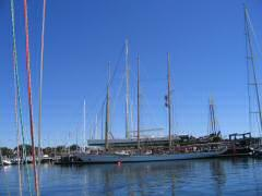 Very large schooner at Newport Shipyard