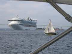 Cruise ship in Newport Harbor